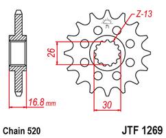 Звезда ведущая JTF1269 16