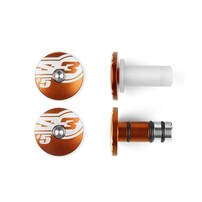 Заглушки руля Ø14 оранжевые S3