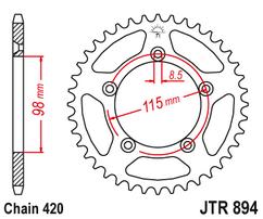 Звезда ведомая стальная 50 зубов KTM 65SX JT