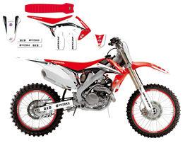 Полный набор наклеек с обтяжкой сидения Honda CRF250R 10-13 / CRF450R 09-12