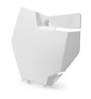 Щиток номерной передний белый KTM SX 16-18 / EXC 17-19