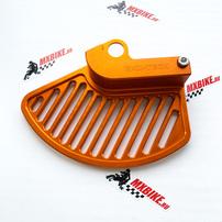 Защита переднего тормозного диска оранжевая KTM EXC/EXC-F 17-21 (ось 22 мм)