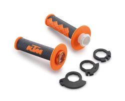 Грипсы Lock-on оранжево-черные KTM 08-16