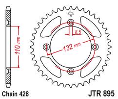 Звезда ведомая стальная 46 зубов 85SX 04-20 JT