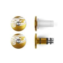 Заглушки руля Ø14 золотые S3