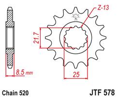 Звезда ведущая  JTF578 18
