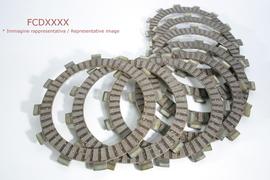 Комплект дисков сцепления фрикционных Kawasaki KX250F 04-15 / Suzuki RM-Z250 04-15 / Yamaha YZ250F 19-21