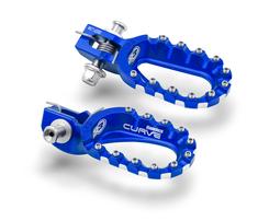 Подножки алюминиевые низкие синие S3 Hard Rock KTM / Husqvarna 17-21