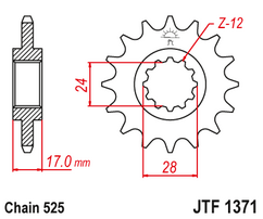 Звезда ведущая JTF1371 14