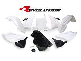 Комплект пластика YZ125-250 02-19 # WR/YZ-X250 16-19 REVOLUTION белый