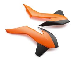 Боковины радиатора оранжево-черные KTM SX/SX-F 14-15 / 250SX, EXC/EXC-F 14-16