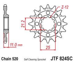 Звезда ведущая JTF824 14 самоочищающаяся