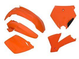 Комплект пластика оранжевый KTM SX-SXF125-520-525 01-03  # SX-SXF250 2ST-450 01-02 # EXC-EXCF 03