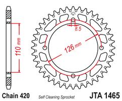 Звезда ведомая алюминиевая 46 зубов KX65 02-20 JT