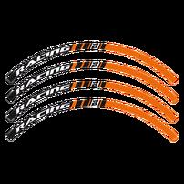 Стикеры на обода оранжевые KTM Blackbird Racing