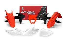 Комплект пластика оранжево-черно-белый KTM XC-W/EXC/EXC-F 17-19