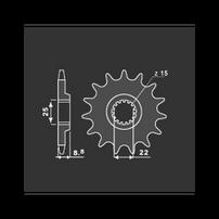Звезда передняя 15 зубов KTM/Husqvarna/Husaberg/Beta PBR