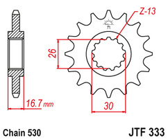 Звезда ведущая JTF333 16