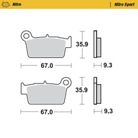 Колодки тормозные задние (Nitro Sport) Beta RR / GasGas -20 / Suzuki / Kawasaki / Yamaha