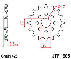 Звезда ведущая 14 зубов 85SX 18-21 / TC85 18-21 JT