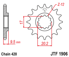 Звезда ведущая JTF1906 15