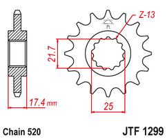 Звезда ведущая JTF1299 14