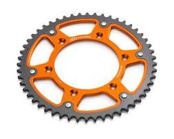 Звезда задняя оранжевая комбинированная 52 зуба KTM