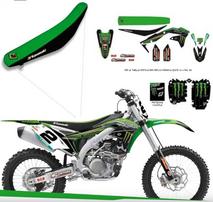 Полный набор наклеек с обтяжкой сидения Kawasaki Racing Team KX450F 09-11